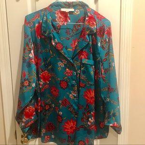 LOFT PLUS silk like pajama like top! Size 24